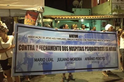 AFATOM protesta contra o fechamento dos hospitais psiquiátricos
